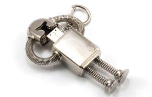 Металлические пропагандистские Custom флэш-накопитель USB в стиле робота (MT014)
