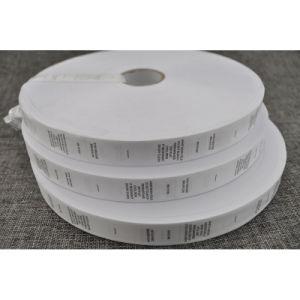 Lavable etiquetas con borde de corte para las prendas de vestir