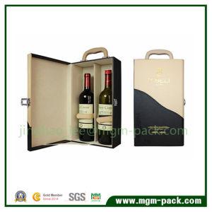 De Doos van de Wijn van het Leer van de Wijn Box/Circular van Pu