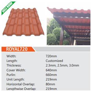 Espagnol Type tuile de toit en résine/feuille/panneau pour Villa