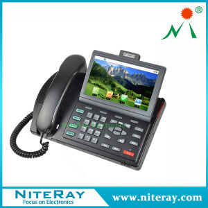 VoIP Conference Phone Business Telephone Hotel con 4 Line Support Video Call