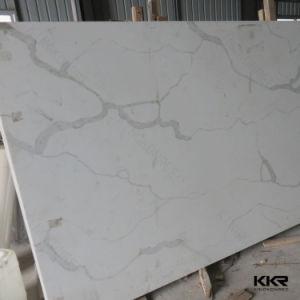 Marbre artificiel de pierre de quartz blanc de Carrare