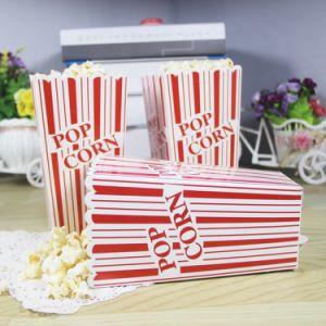 大きいサイズの赤いピンクの縞のポップコーンは誕生会のベビーシャワーの結婚式の祭典のためのポップコーン袋キャンデーボックスを囲む