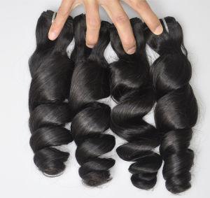 100% de cabelo humano Virgem Brasileira Onda Solta o cabelo extensões de cabelo