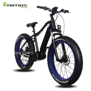 bici eléctrica de gran alcance mecanismo impulsor gordo 9speed MTB del neumático 1000W del MEDIADOS DE