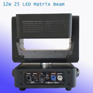 25*12W RGBW 4en1 Cabezal movible de haz de luz de la Matriz de LED