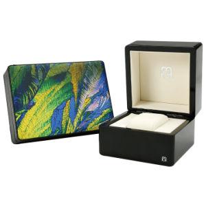 Visor de relógio de madeira caso dom de armazenamento de Embalagem embalagem Caixa de jóias