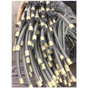 5/16 '' di SUS304 ha intrecciato il tubo flessibile di PTFE con il PVC coperto