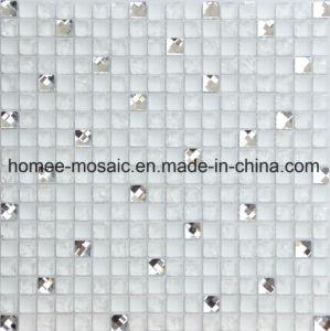 Le grésillement mélange de verre diamant pour cuisine dosseret Mosaïque Mosaïque murale