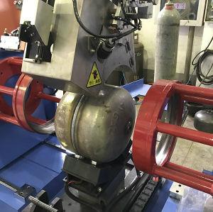 Bombona de gas de la producción de la línea de soldadura
