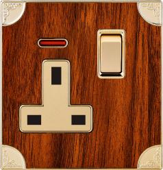 La norme britannique 13A Prise commutée Square-Pinned avec néon (N6)