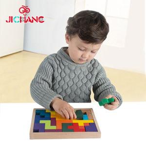 Le jeu de casse-tête en bois classique intelligent de Tetris badine des jouets