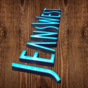 Publicidade de metal em acrílico colorido sinal LED
