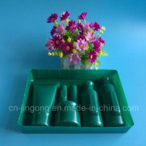 Bandeja verde oscuro del plástico de la bandeja de la pieza inserta de Cosmestic del animal doméstico