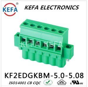 Com o PCB Flang bloco terminal de parafuso tipo europeu conectável