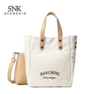 Commerce de gros Beige Fashion shopping de luxe sac fourre-tout coton pliable