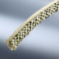 Diagonalmente glândula trançada embalagem fibras descontínuas de aramida Grease-Free lubrificante de silicone e PTFE Supraflon 6435