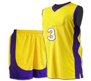 デザインポリエステルバスケットボールの均一バスケットボールジャージー