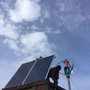 1KW Maglev Gerador eólico Vertical e painel solar para uso doméstico no telhado