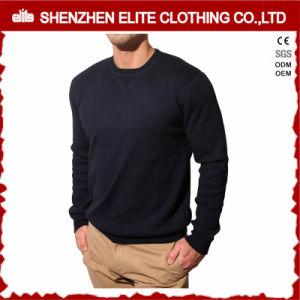 Maglietta felpata del panno morbido del cotone degli uomini casuali in bianco di modo (ELTSTJ-784)