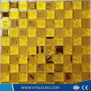 Doblado de colores decorativos de cristal templado /Grabado Ácido mosaico de vidrio estampado