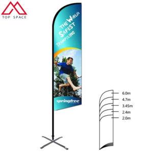 Agitando la mano personalizada Ventanilla Swooper banner de abajo de la hoja bandera de la playa de Teardrop volador
