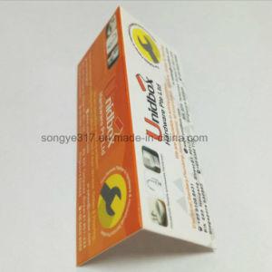 Etiqueta de plegado personalizado colgando / Tarjeta de impresión de tarjetas de plástico / Tarjeta de color