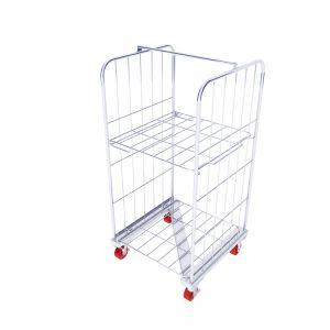 Estrutura de Z a logística do supermercado carrinho dobra/Rolo Nestable contentor com rodas