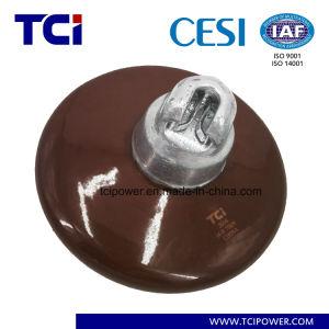 70kn Suspensão de porcelana 33kv Isolador de Disco