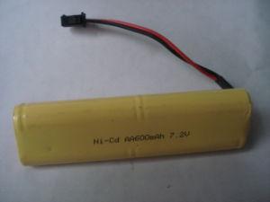 빛을%s Ni CD 건전지 팩 AA600mAh 9.6V