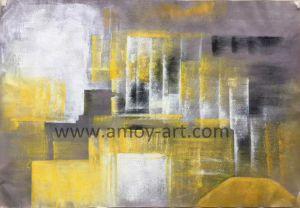 Pitture a olio astratte decorative su tela di canapa