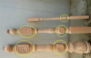 4 axes CNC tour Single-Tool titulaire avec la fusée de sculpture sur bois