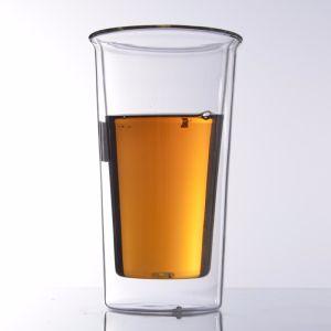 Cristalleria doppia/tazze di vetro tè/del caffè/tazze/tazze beventi
