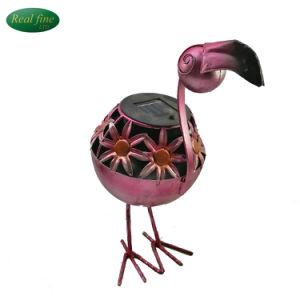 Jardín de Esculturas de metal decoración adornos solares aves