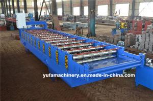 1050mm en acier galvanisé d'alimentation du panneau de toiture machine à profiler