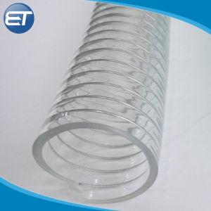 PVCハイ・ロー温度の抵抗力がある螺線形の鋼線の補強されたホース