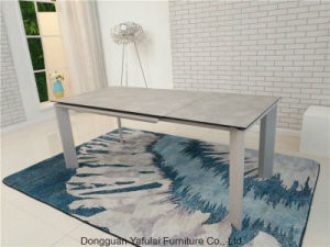 Una extensión moderna del HPL Gris Cristal mesa de comedor Muebles