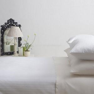 La base 100% dell'assestamento dell'hotel del Comforter della banda di bianco 1cm del cotone 600tc ha impostato (DPFB80113)