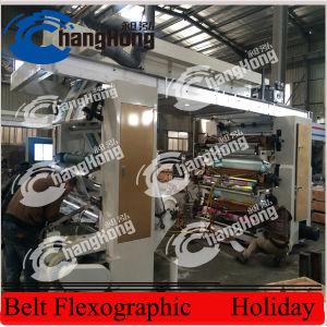 Cores Flexographic da máquina de impressão 6 da película da bolha