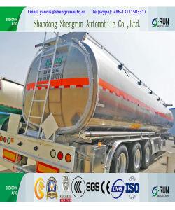 50cbm 알루미늄 합금 연료 탱크 트레일러 유조선