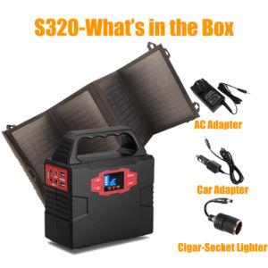 AC/DC/USB를 가진 휴대용 태양 발전기 홈 조명 시설 리튬 건전지