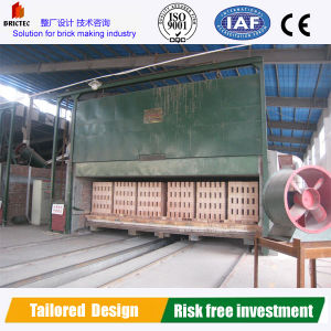Forno de túnel na produção de tijolos de barro Totalmente Automática ultramarinos de Linha
