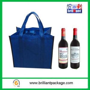 Sacchetti non tessuti riutilizzabili poco costosi della bottiglia con il sacchetto della maniglia