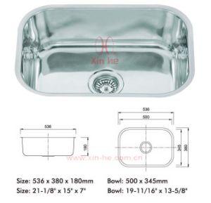 En virtud de acero inoxidable montadas SUS304 solo Bowl Bar Fregadero