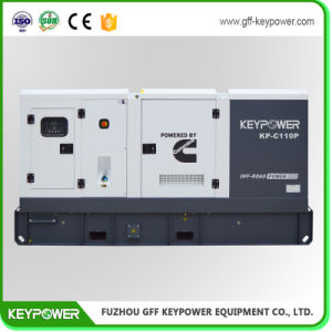 Insonorisées Cummins 110KW de puissance électrique avec ce groupe électrogène diesel