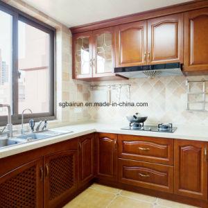 Agitador de mobiliário de estilo americano Placa Melamina porta do gabinete de PVC de madeira armário de cozinha