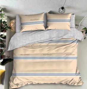 簡単な様式は安いポリエステル羽毛布団カバー敷布を印刷した