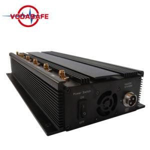 Emittente di disturbo del telefono delle cellule di DMA/GSM/Dcs /3G, unità dell'emittente di disturbo del segnale del telefono delle cellule di GPS della vasta gamma, emittente di disturbo da tavolino del segnale delle 6 fasce, mini emittente di disturbo portatile