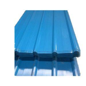 Prépeint feuille de carton ondulé en acier recouvert de zinc tôle de toit