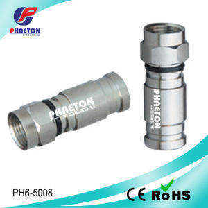 Conetor de cabo da compressão do mercado RG6 de Brasial para o cabo coaxial